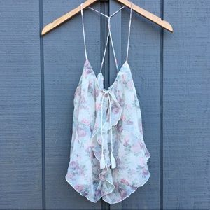 Abercrombie & Fitch Floral Ruffle Top